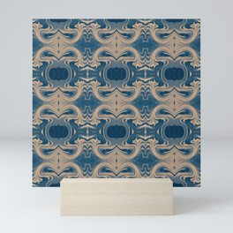 Shades of Blue Abstract Mini Art Print