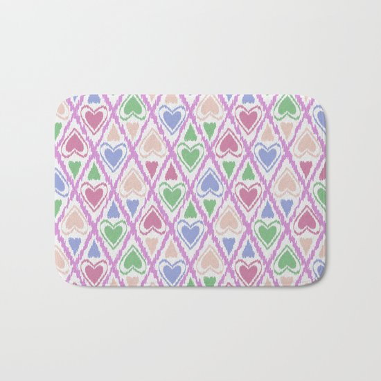Favorite pattern . Brown, pink , green . Bath Mat
