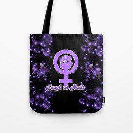 Tough As Nails - Purple Sparks and Butterflies Tote Bag