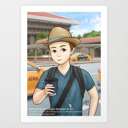 Backpack Sir Sir at Taipei Main Station Art Print