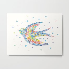 Triangled Swallow Metal Print