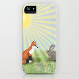 fox and bunny iPhone Case