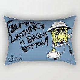 Fear and Loathing in Bikini Bottom Rectangular Pillow