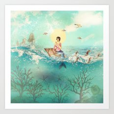 The Queen Mermaid Art Print