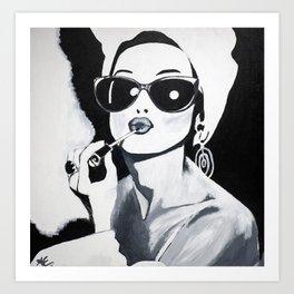 Sunglasses & Lipgloss Art Print