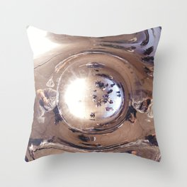 Reflecting, Under Cloud Gate, Chicago Throw Pillow