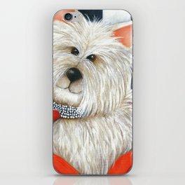 Dog Westie Terrier Original painting Deb Harvey Art Rose iPhone Skin