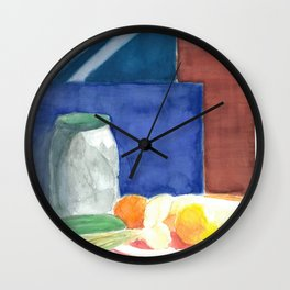 Still life with pickles Wall Clock
