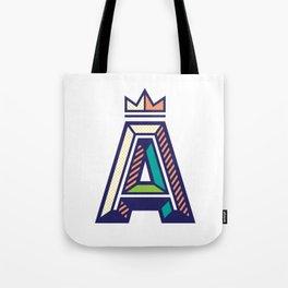 Crowned A Initial Tote Bag