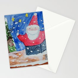 Don't Get Stuck, Santa! Stationery Cards