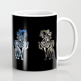 Elemental Tribal Horses Coffee Mug