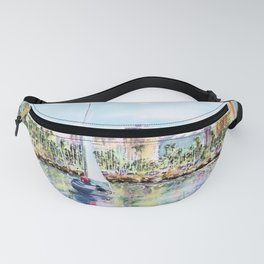 Sailing into Downtown Long Beach Fanny Pack