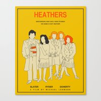 heathers Canvas Prints featuring HEATHERS by Jazzberry Blue