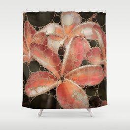 Percolated Tropical Flowers Shower Curtain