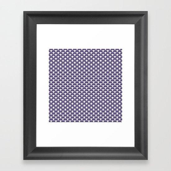 Dragon Scales Deep purple Framed Art Print