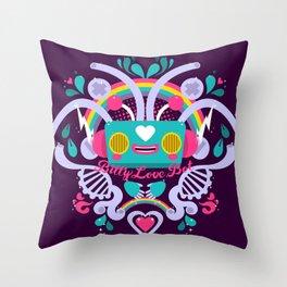Bitty Love Bot Throw Pillow