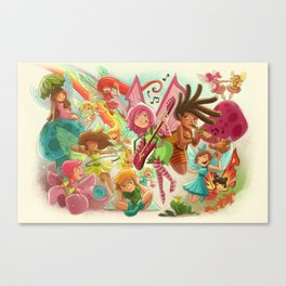 Goblins Drool, Fairies Rule! - Team Fairy Canvas Print