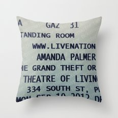 Amanda Palmer & the GTO: Standing Room Throw Pillow