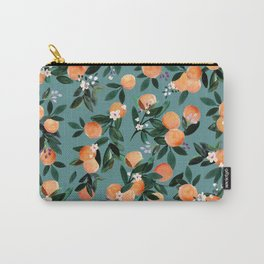 Dear Clementine - oranges teal by Crystal Walen Carry-All Pouch
