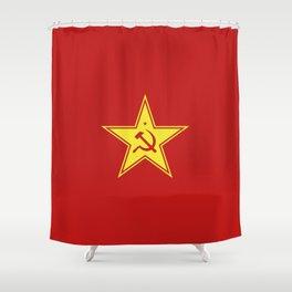 Red Star Hammer & Sickle Shower Curtain