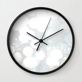 White Bokeh Wall Clock