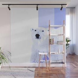 polar ice bear vector art cool blue Wall Mural