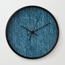 Jeans textile Wall Clock