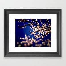 Fairy Lights Framed Art Print