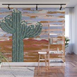Flowering Saguaro Wall Mural