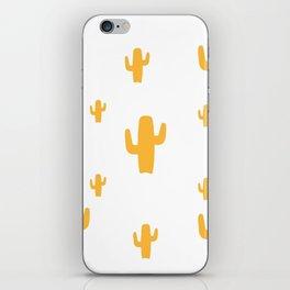 Mustard Cactus Pattern iPhone Skin