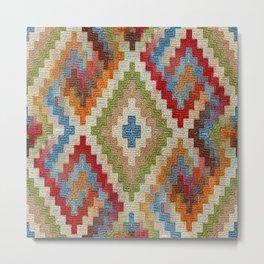 kilim rug pattern Metal Print