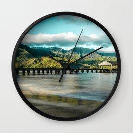 Sunrise at Hanalei Wall Clock