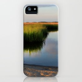 Watercolor People in Nature, BS, Children 03, Janes Island, Maryland iPhone Case