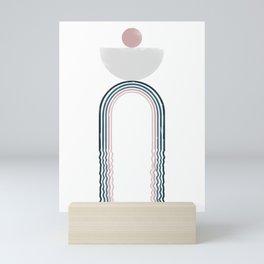 Modern Geometric Pattern 02 Mini Art Print