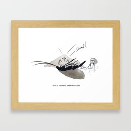 MOTH TO MOTH RESUSITATION Framed Art Print