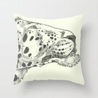 leopard Throw Pillows featuring Leopard by Breakell
