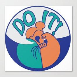 Do It! Orange Canvas Print