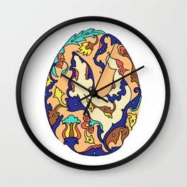 Persian Motif Egg Wall Clock