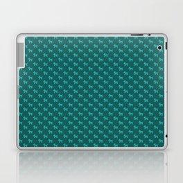 Dogs-Teal Laptop & iPad Skin