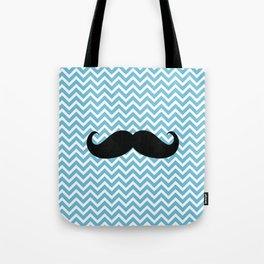 Mustache turquesa Tote Bag