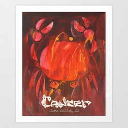 Cancer the Crab Poster Art Print