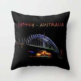 Electrified Sydney Throw Pillow