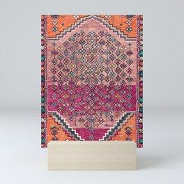 Traditional Moroccan Berber Artwork Design E17 Mini Art Print