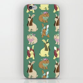 Hares In Wigs iPhone Skin