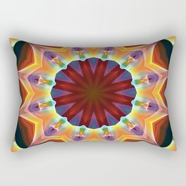 Santa Fe Summer Night, Abstract Warm Romance Rectangular Pillow