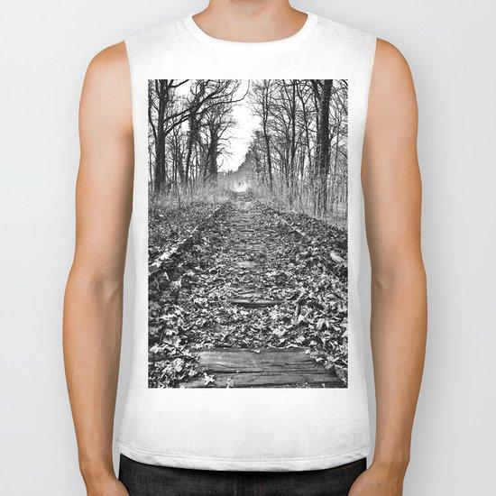 tracks in the forest Biker Tank