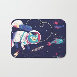 The Adventures of Space Cat Bath Mat