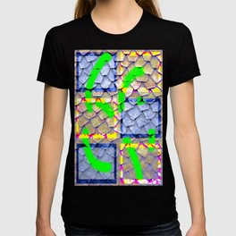 Collage with rooftop effect T-shirt