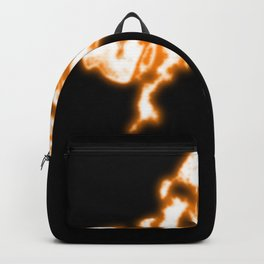 Neon flame abstract Backpack