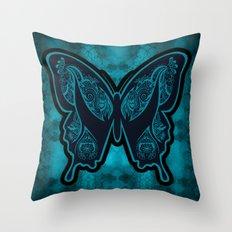 Henna Butterfly No. 6 Throw Pillow